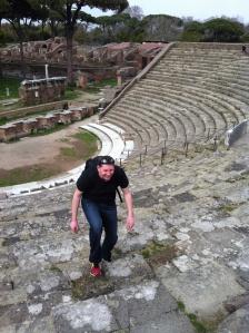 Zach in Ostia Theater