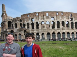 Zach and Mitch in front of Colosseum