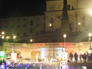 Berlusconi rally on Spanish Steps.