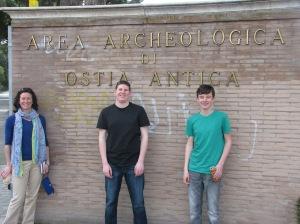 Entry to Ostia Antica