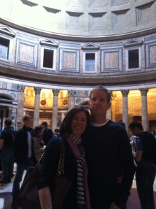 Laura and Tom inside the Pantheon