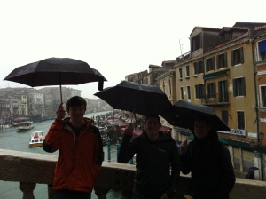 Boys on Rialto Bridge